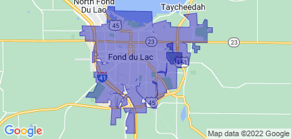 Fond du Lac, Wisconsin Border Map