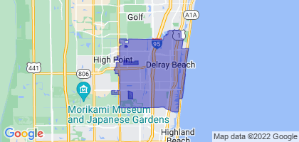 Delray Beach, Florida Border Map