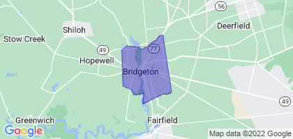 Bridgeton, New Jersey Border Map