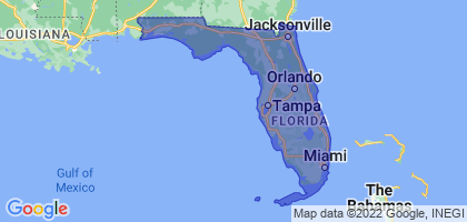 Florida Border Map