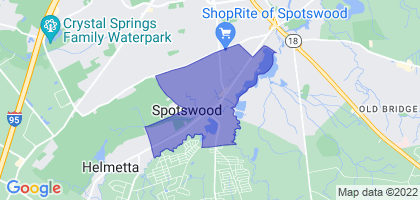 Spotswood, New Jersey Border Map