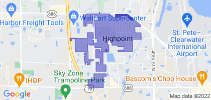 South Highpoint, Florida Border Map