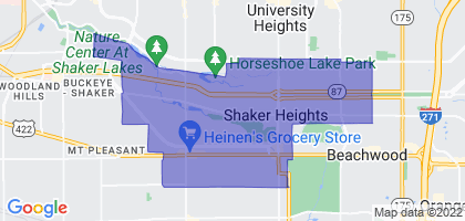 Shaker Heights, Ohio Border Map