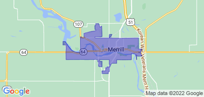 Merrill, Wisconsin Border Map