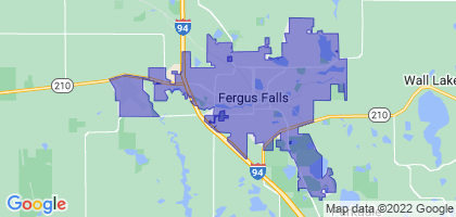 Fergus Falls, Minnesota Border Map