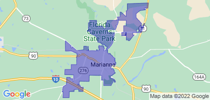 Marianna, Florida Border Map