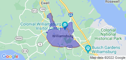 Williamsburg, Virginia Border Map