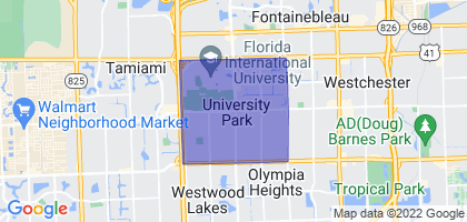 University Park, Florida Border Map