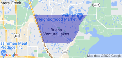 Buenaventura Lakes, Florida Border Map