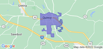 Quincy, Florida Border Map