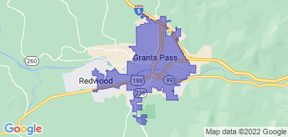 Grants Pass, Oregon Border Map