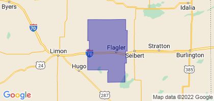 Arriba-Flagler School District C-20, Colorado Border Map