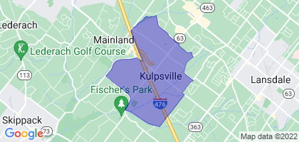 Kulpsville, Pennsylvania Border Map