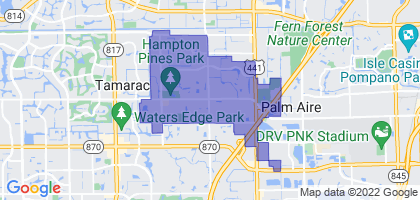 North Lauderdale, Florida Border Map