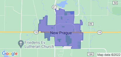 New Prague, Minnesota Border Map