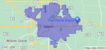 Salem, Ohio Border Map