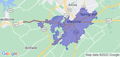 Maryville, Tennessee Border Map