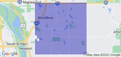 Woodbury, Minnesota Border Map