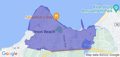 Union Beach, New Jersey Border Map