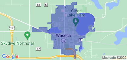 Waseca, Minnesota Border Map