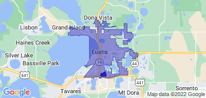 Eustis, Florida Border Map