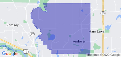 Andover, Minnesota Border Map