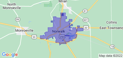 Norwalk, Ohio Border Map