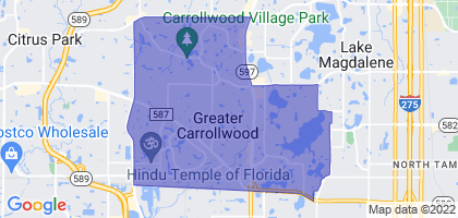 Carrollwood, Florida Border Map