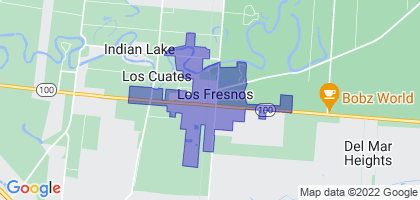 Los Fresnos, Texas Border Map