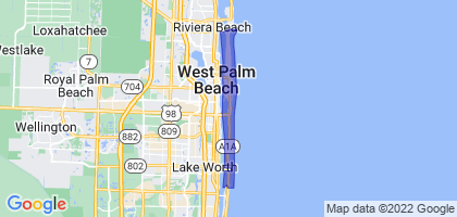 Palm Beach, Florida Border Map