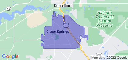 Citrus Springs, Florida Border Map