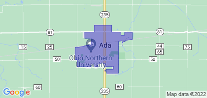 Ada, Ohio Border Map