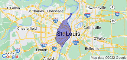 St. Louis, Missouri Border Map