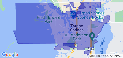 Tarpon Springs, Florida Border Map