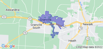 Granville, Ohio Border Map