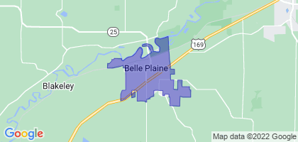 Belle Plaine, Minnesota Border Map