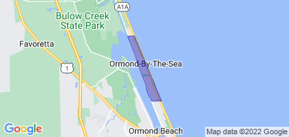 Ormond-by-the-Sea, Florida Border Map