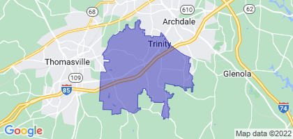 Trinity, North Carolina Border Map