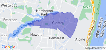 Closter, New Jersey Border Map