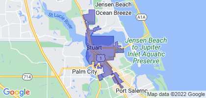 Stuart, Florida Border Map