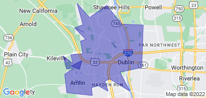 Dublin, Ohio Border Map