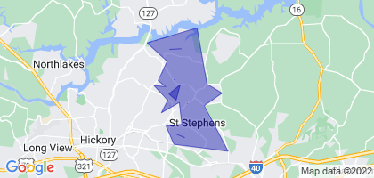 St. Stephens, North Carolina Border Map