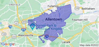 Allentown, Pennsylvania Border Map