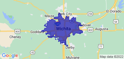 Wichita, Kansas Border Map