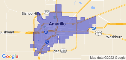 Amarillo, Texas Border Map