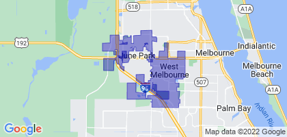 West Melbourne, Florida Border Map