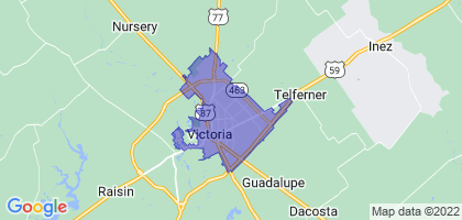 Victoria, Texas Border Map