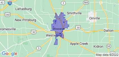 Wooster, Ohio Border Map