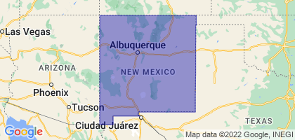 New Mexico Border Map