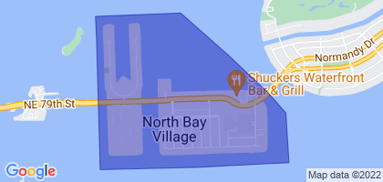 North Bay Village, Florida Border Map